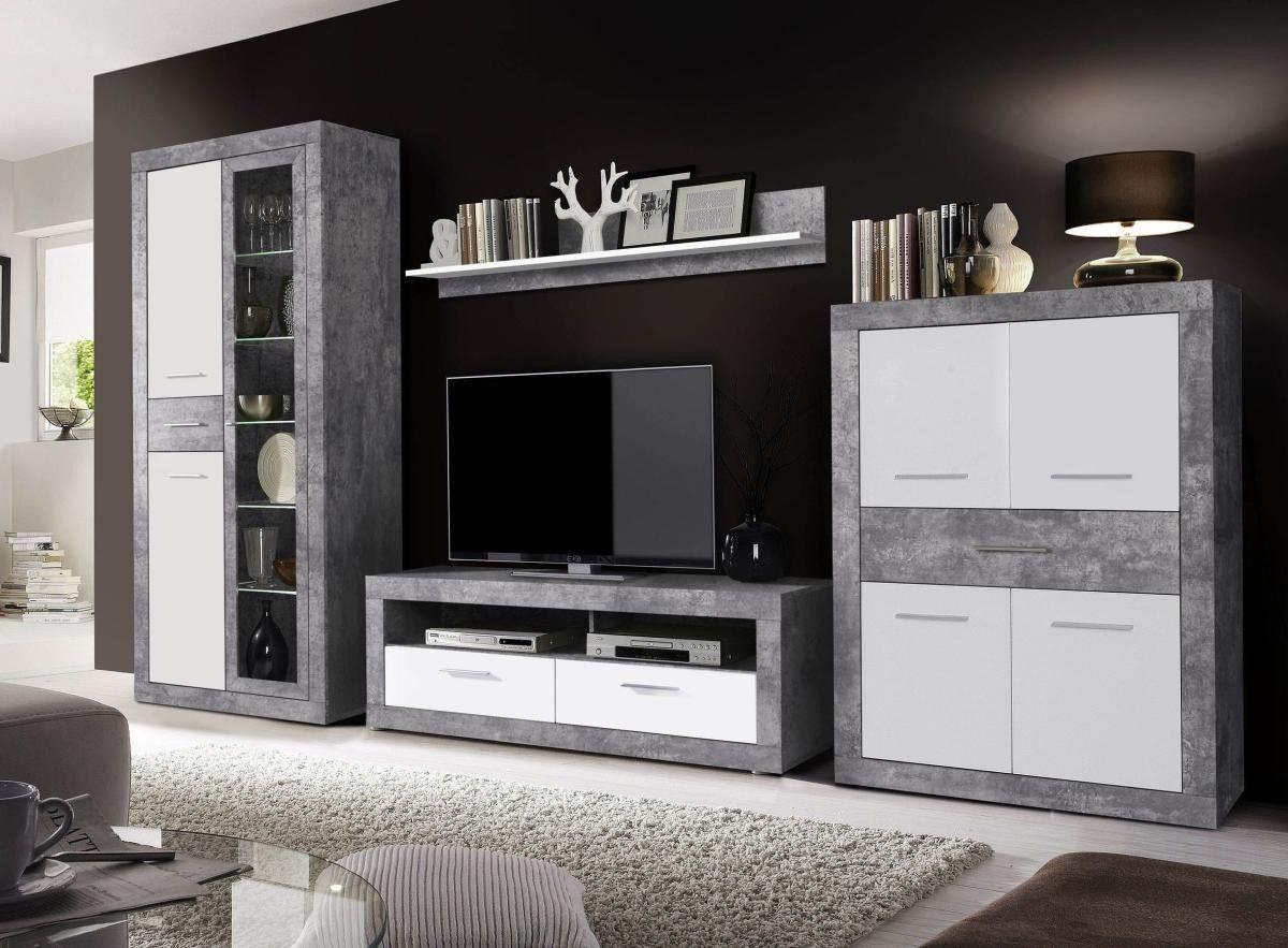 Wohnwand Vitus Online Bei Poco Kaufen Wohnen Wohnzimmerschranke Wohnwand