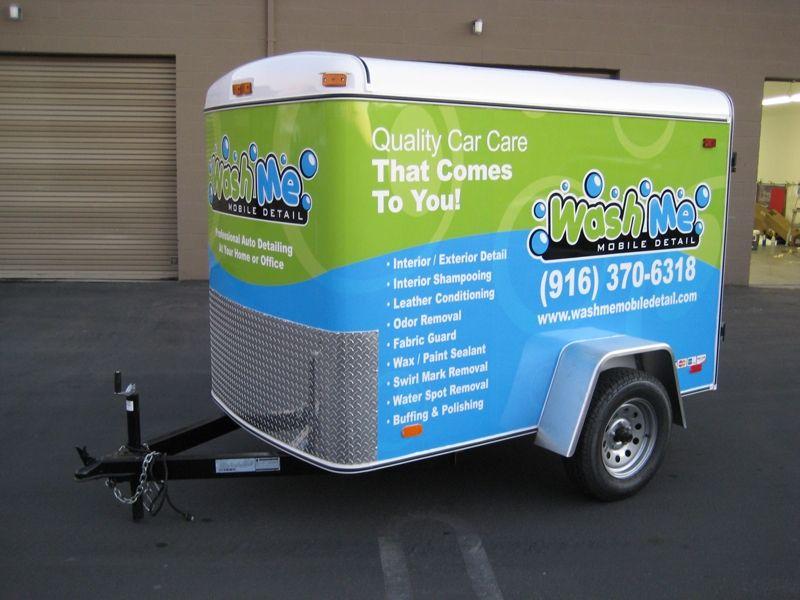 trailer vehicle wrap Google Search Car wash business