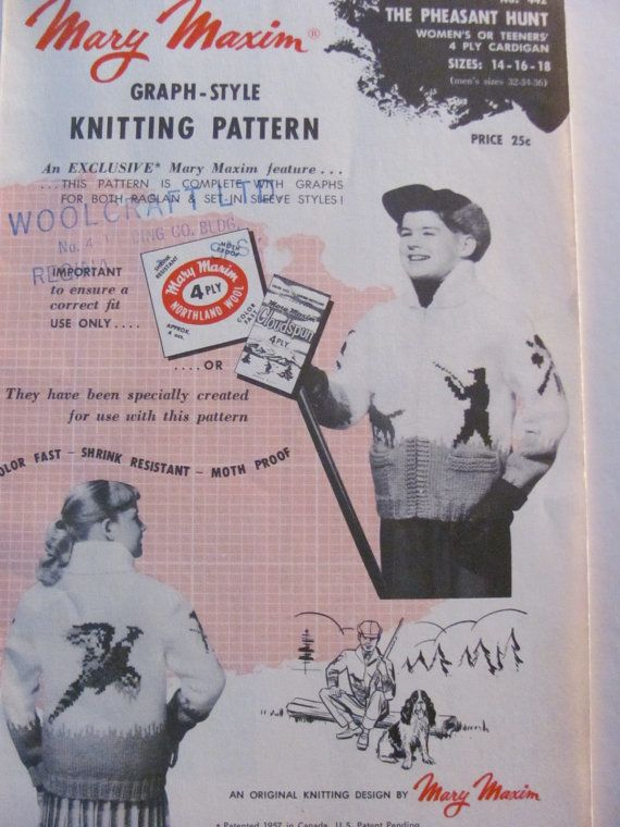 Mary Maxim Graph Style Knitting Pattern 442 by OnceUponAnHeirloom