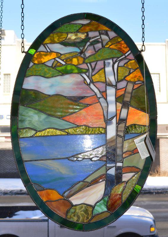 Adirondack Birch scene in Summer Motif | stained glass ...
