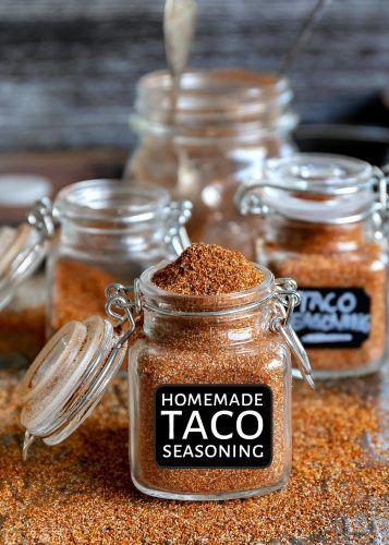 Easy Homemade Taco Seasoning (Mom On Timeout) #tacoseasoningpacket