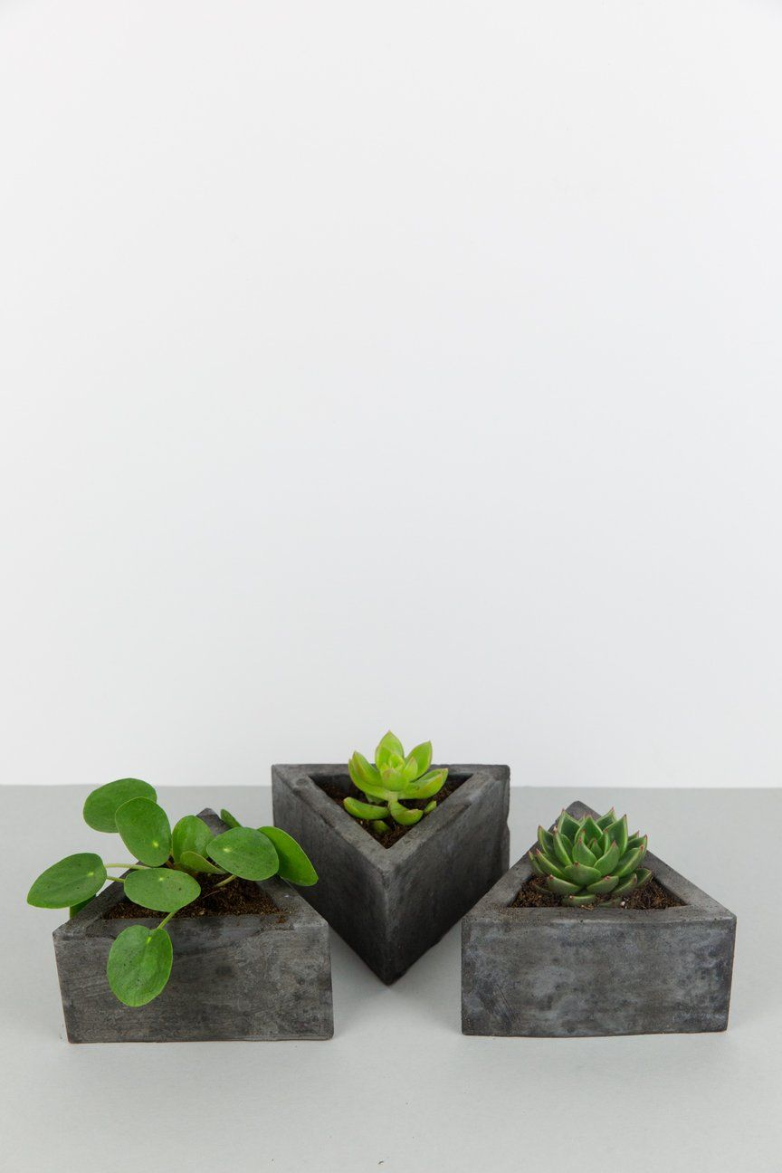 Triangle Concrete Plant Pot