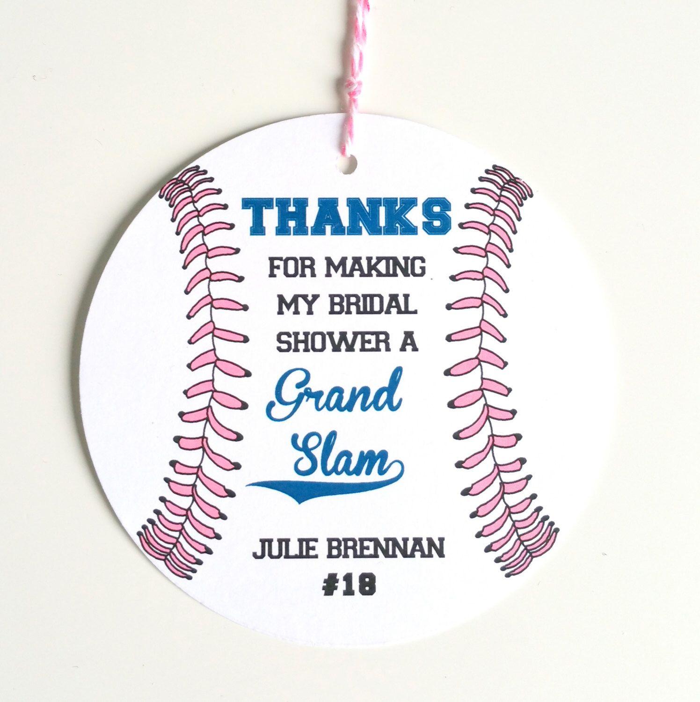 12 Baseball Baby Shower Favor Tags Baseball Theme Baby Shower Tag
