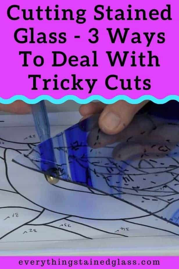 Cutting Stained Glass By Tapping Video - Everythin