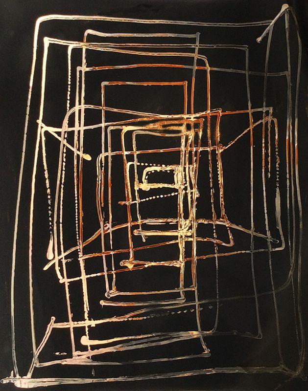 Birgit Blyth - Seeking Spaces 4, Chromoskedasik Monoprint, Carrie Haddad Gallery