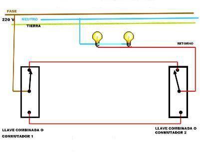 Instalar Dos Interruptores Para Hacer Conmutada Con Dos Puntos De Luz Instalaciones Electricas Basicas Instalacion Electrica Instalacion Electrica