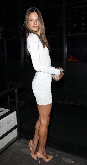 b88c319c762 Alessandra Ambrosio Celebrates Her Birthday in a Sexy White Dress ...