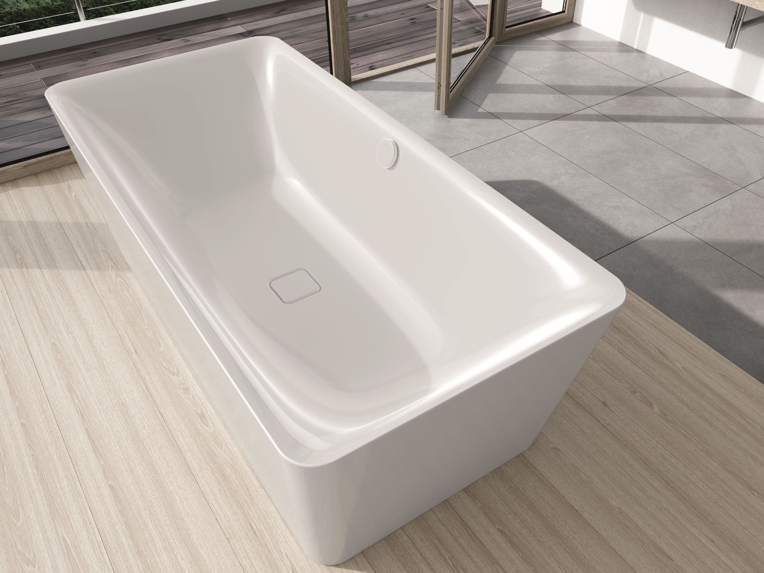Vasca Da Bagno Hoesch : Vasca da bagno centro stanza in acciaio smaltato meisterstÜck incava