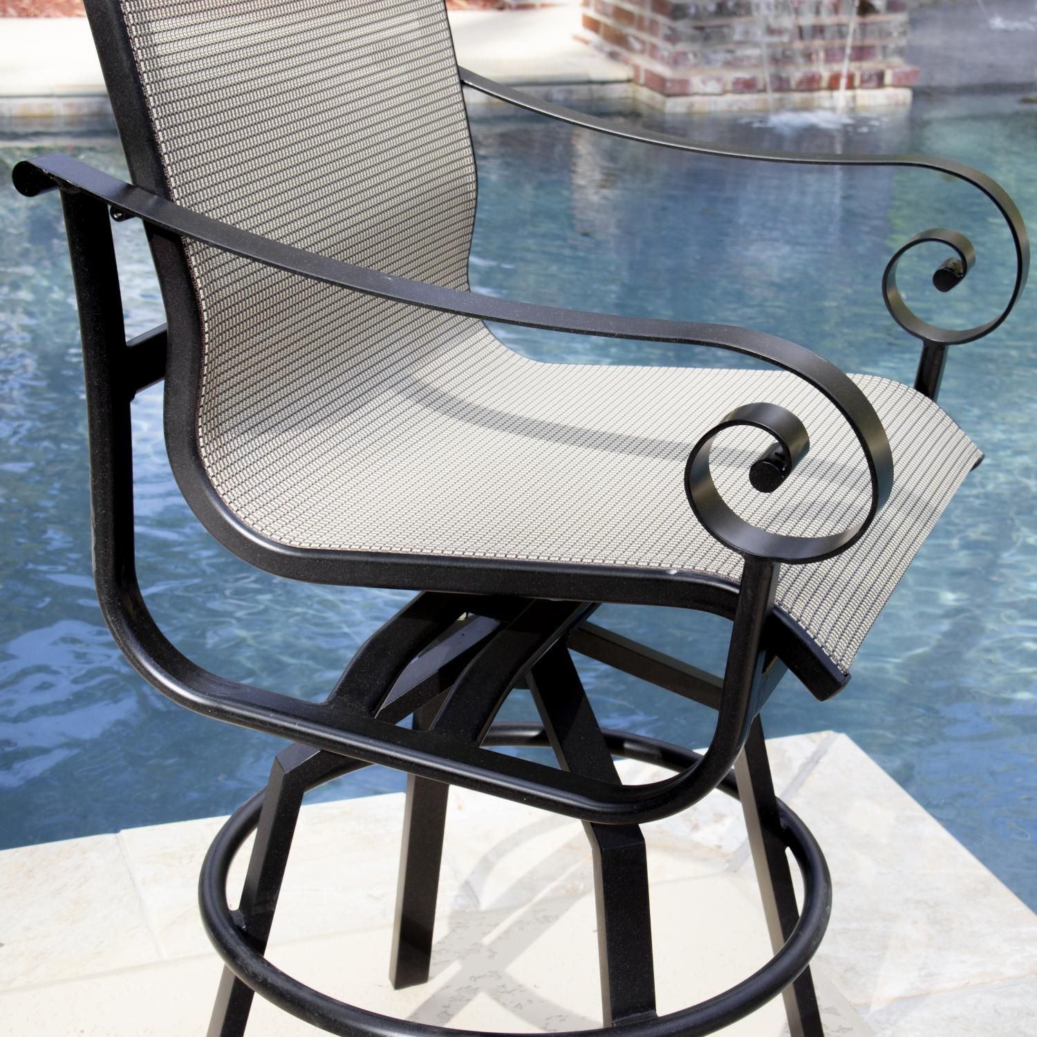 Beautiful Swivel Sling Patio Chairs