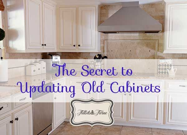 TidbitsTwine Updated Old Cabinets Updating 80s Builder Grade Kitchen  Cabinets