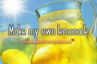Make my own lemonade