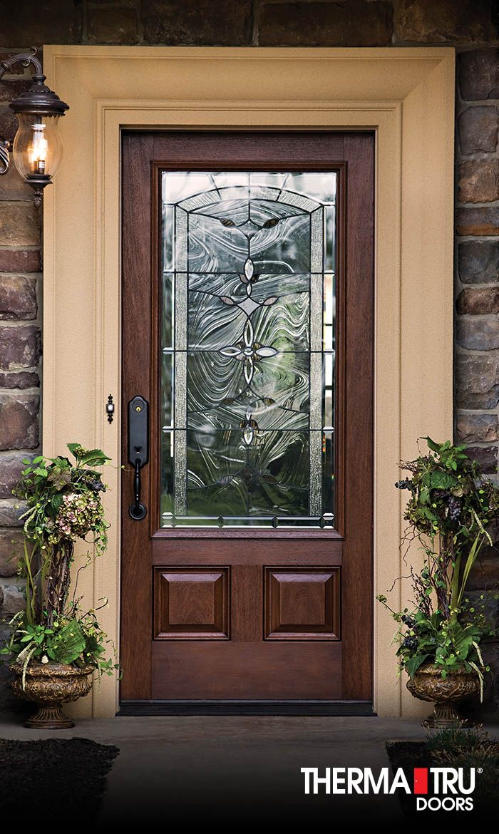 Therma Tru Classic Craft Mahogany Collection Fiberglass Door With