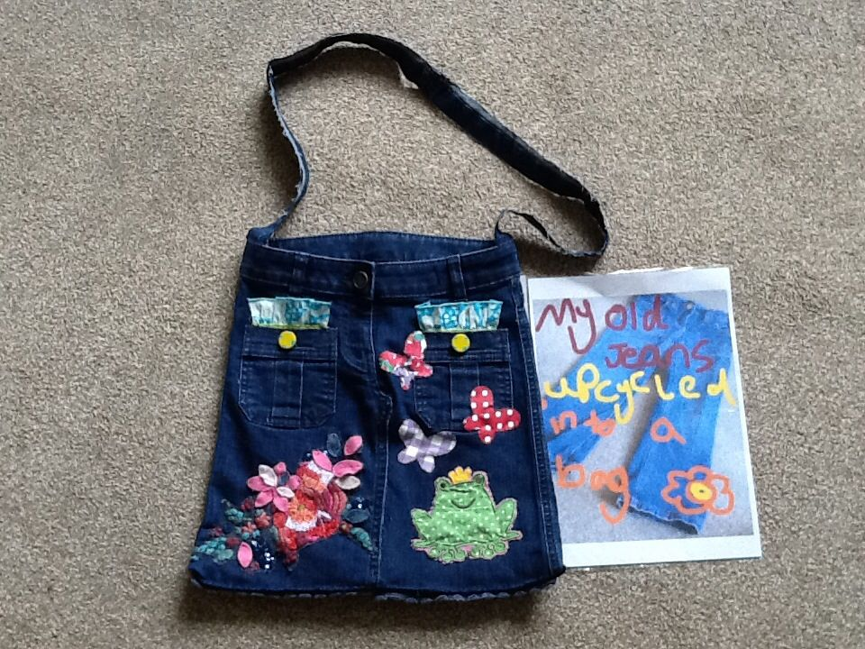 Alice's up cycled jeans bag