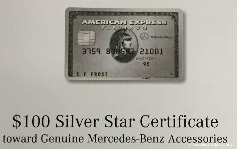 100 Mercedes Benz Gift Certificate Amex Platinum Best Use The Reward Boss Mercedes Benz Mercedes Mercedes Benz Accessories
