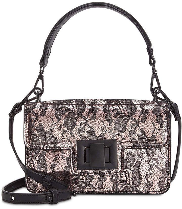 Steve Madden Christy Lace Overlay Top Handle Crossbody Cross Body Handbags Overlays
