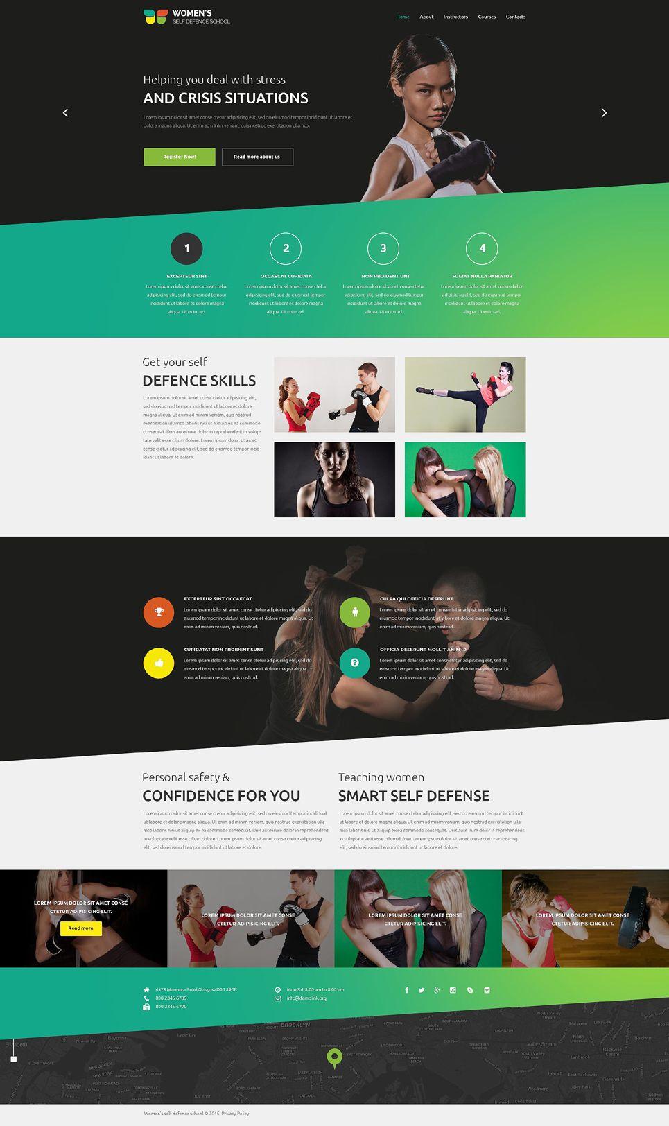 Martial Arts Training Web Template