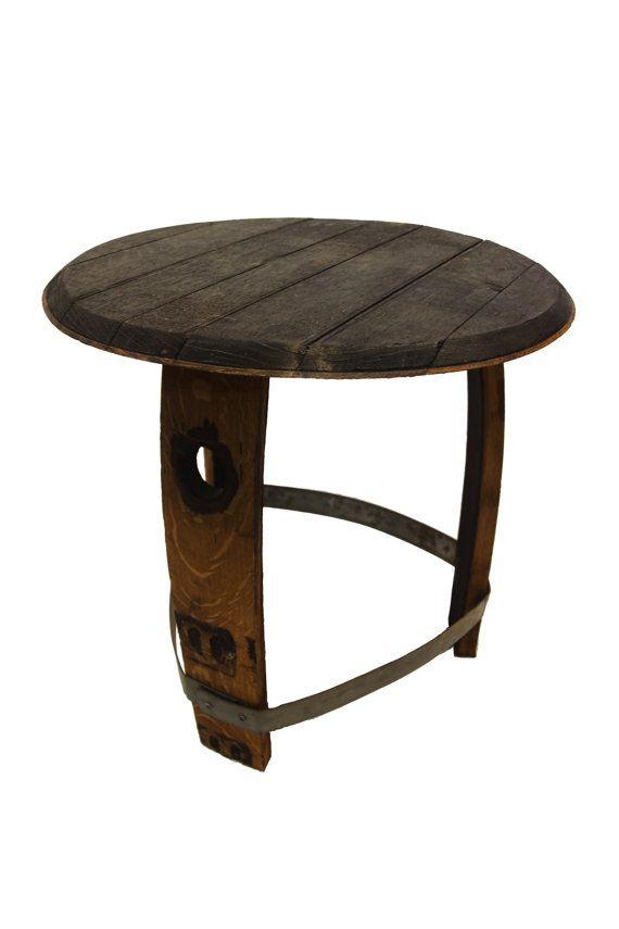 Wine Barrel Side Table Patio Outdoor By Barrelartllc