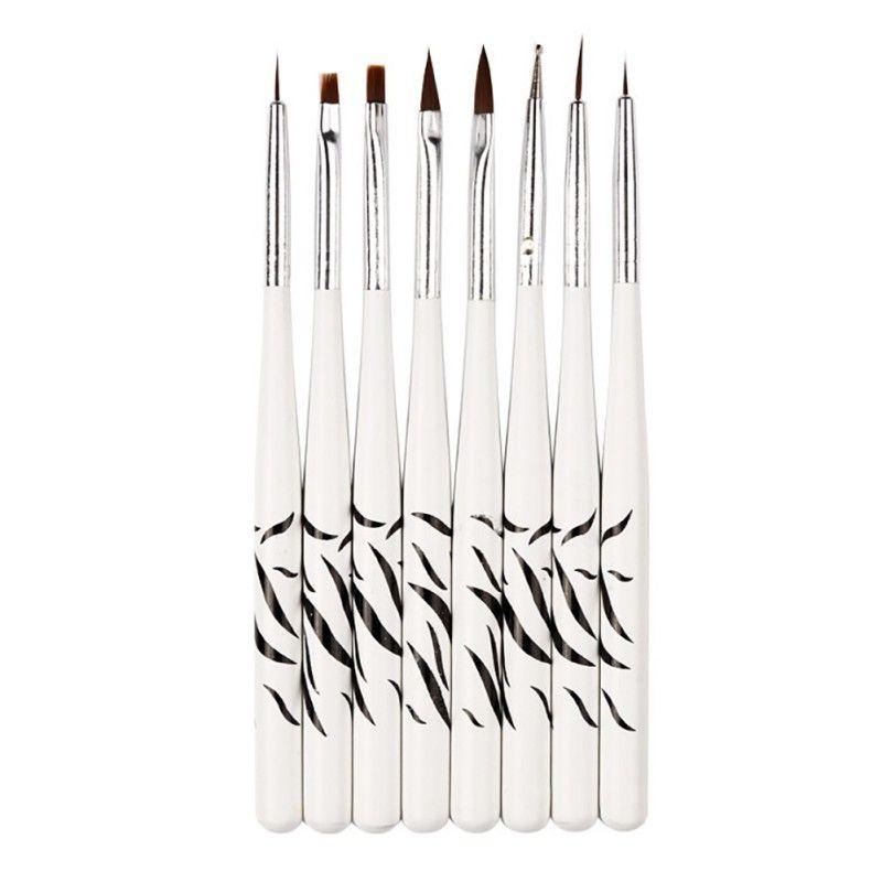 New 8 Pcs Diy Professional Nail Art Brush Design Painting Tool Pen