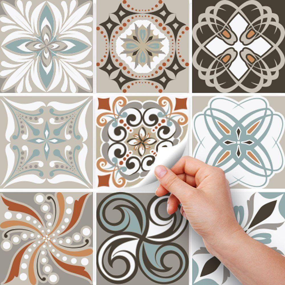36 Pieces Carrelage Adhesif 15x15 Cm Ps00009 Decorations D