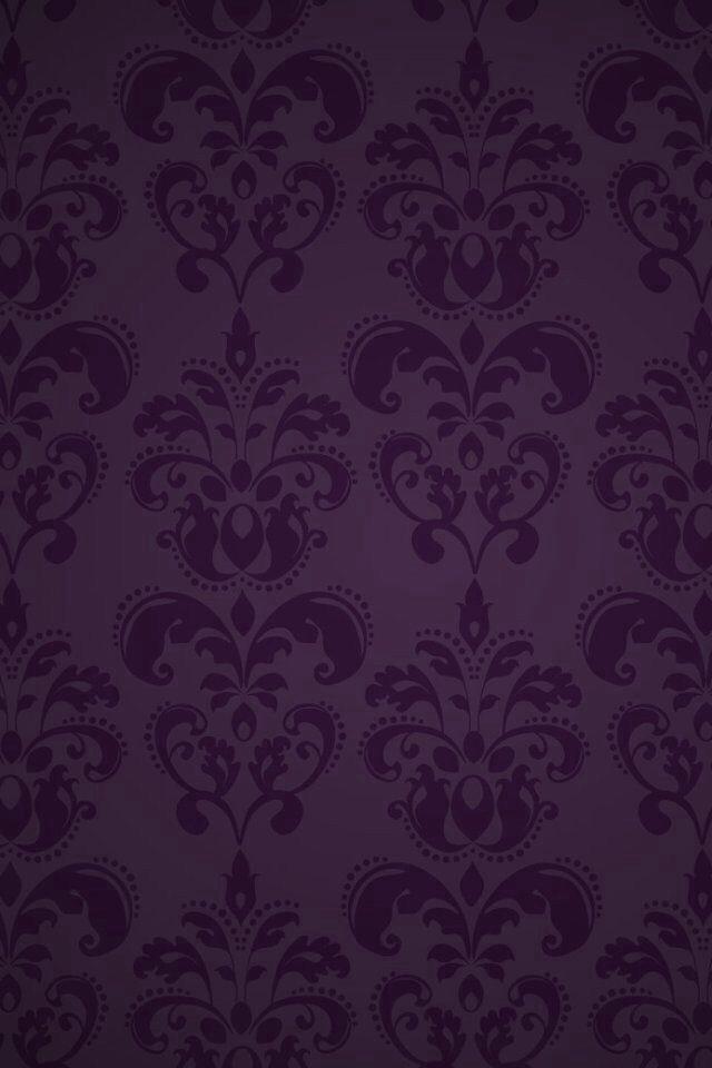 Purple Damask Wallpaper