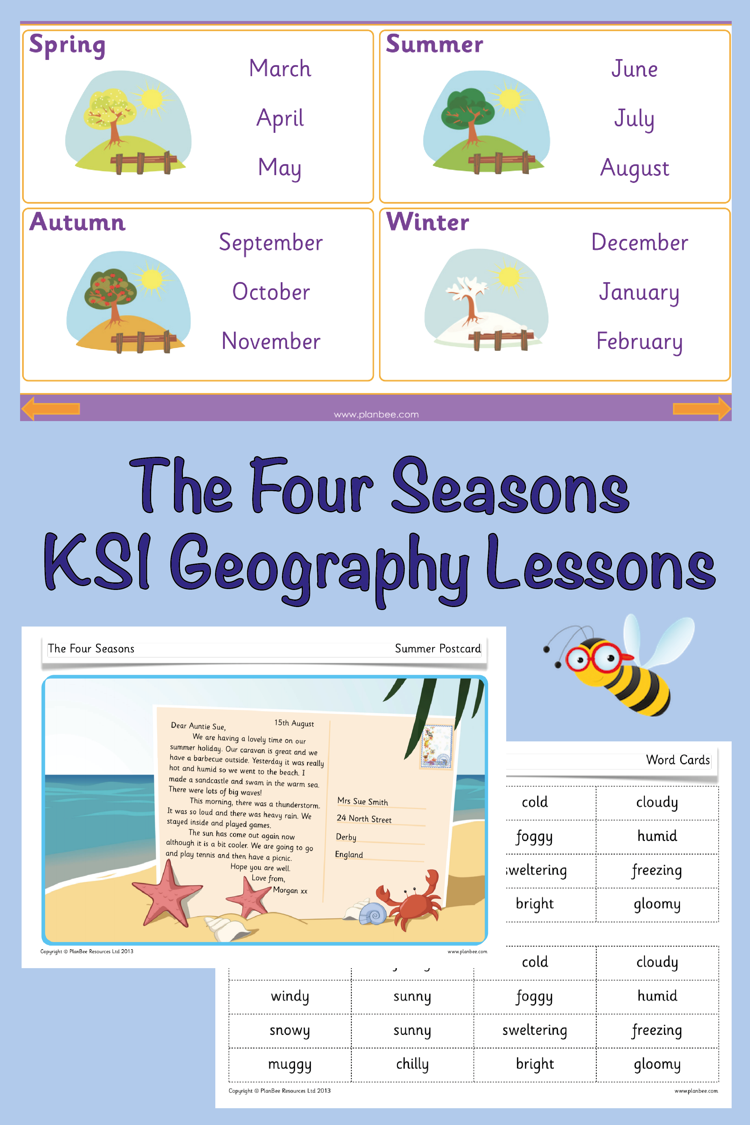 The Four Seasons Seasons Lessons Geography Lessons Winter Words [ 3751 x 2501 Pixel ]