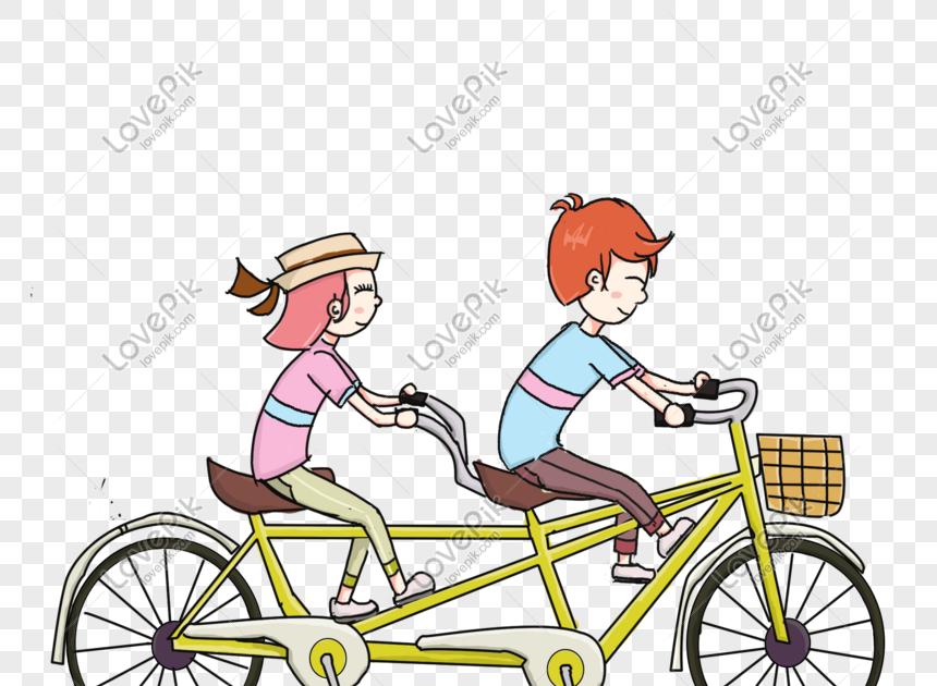 34 Gambar Orang Pakai Sepeda Kartun Ilustrasi Sepeda Naik Pasangan Tangan Ditarik Gambar Unduh Download Jasa Gambar Vector Edit Kartun Gambar Gambar Orang