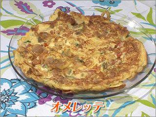 世界の朝ごはん|知っとこ! オメレッテ(オムレツ) 【材料】   卵3、4個  トマト1個  チーズ100g  豚肉100g  パセリ適量  塩50g   【作り方】 1. 溶いた卵に細かくカットしたチーズ、トマト、パセリ、炒めた豚肉を加える 2. 全体を混ぜ合わせ、塩で味付けをする 3. 油をしいたフライパンに混ぜ合わせた具材を流し入れる 4. 形を整え、両面に焦げ目がつくまで焼き上げれば完成