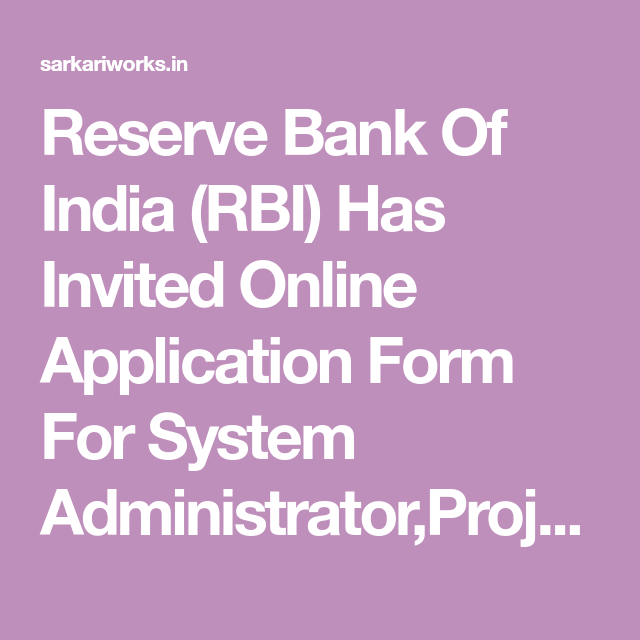 reserve bank online application form