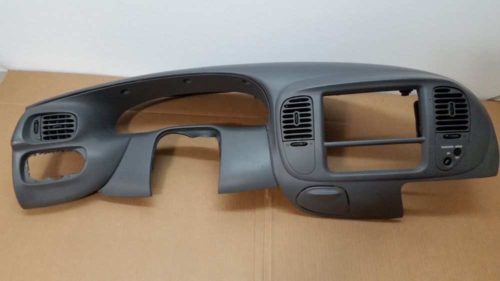 99 03 F 150 Light Duty F 250 4x2 Dash Vent Trim Radio Bezel Medium Gray A118 Fordoem Electronic Products Interior Trim Ebay