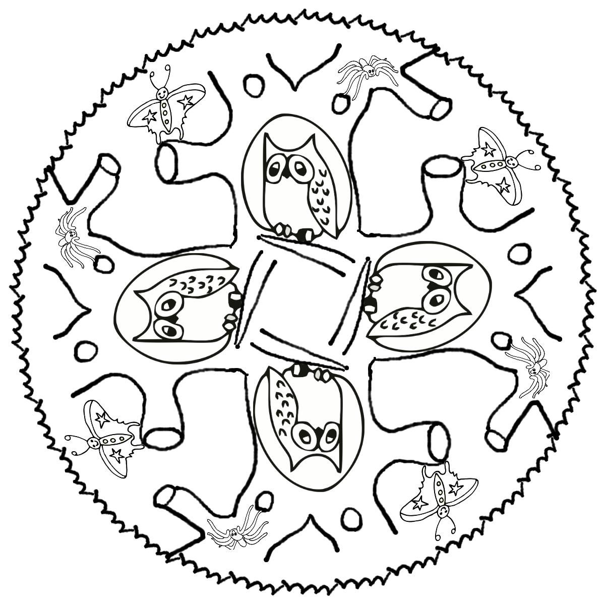 Ausmalbilder Winter Tiere : Eulen Mandala Tiere 1118 Malvorlage Eule Ausmalbilder Kostenlos