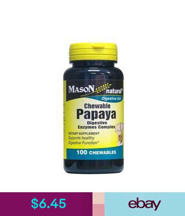 Papaya Digestive Enzyme Complex 100 Chewables Tablets Digestive Aid Digestive Enzymes Digestion Aid Digestion