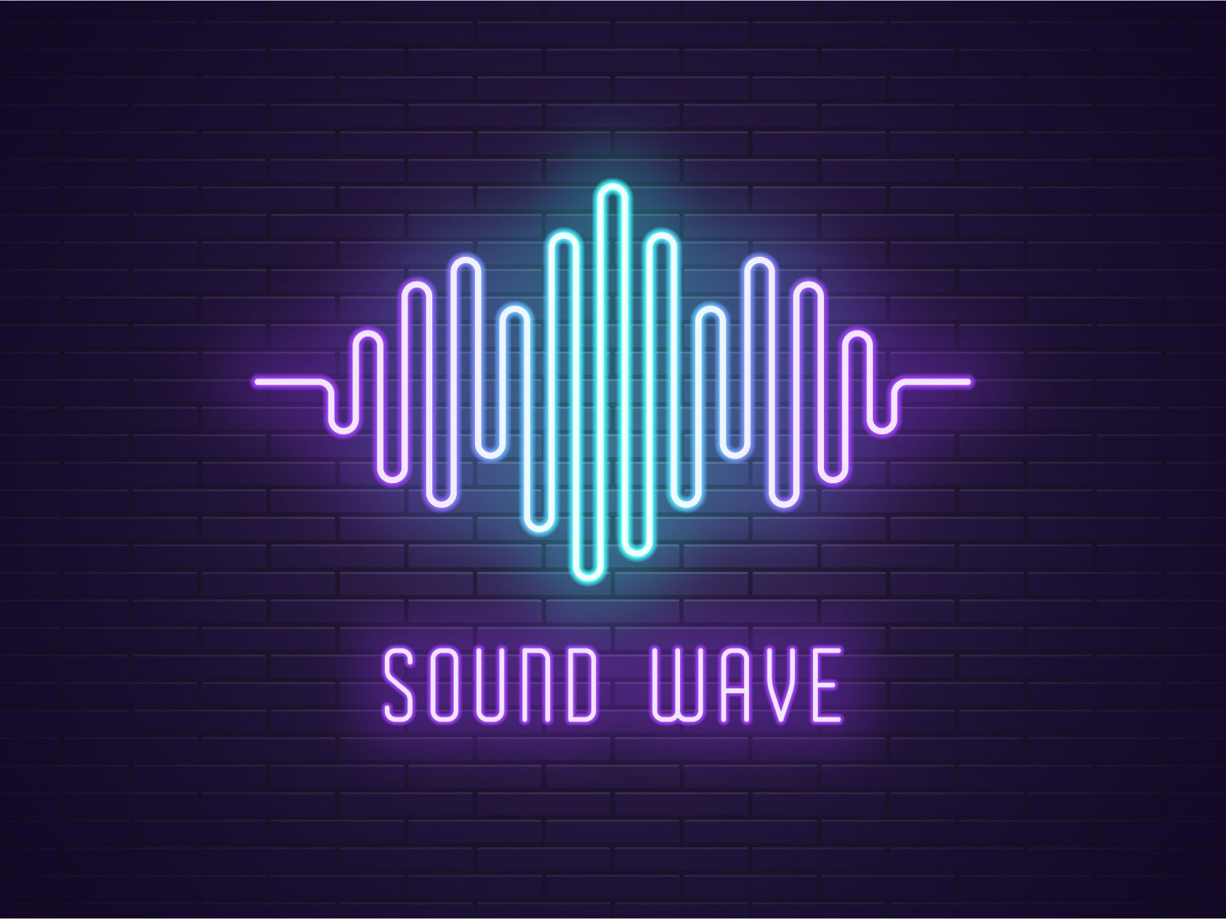 Neon sound wave в 2019 г.