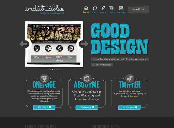 typography in web design indubitablee design development - Great Website Design Ideas