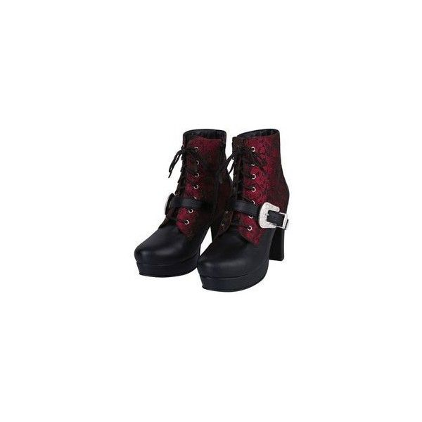 New Rock platform boots black/purple GOTH moto buckles steampunk ❤ liked on Polyvore featuring shoes, boots, buckle boots, black gothic boots, vintage boots, black goth boots and black boots