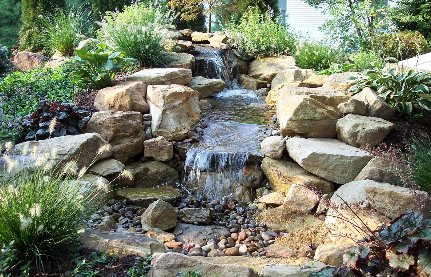 Nice pond water features water feature pinterest for Pond features