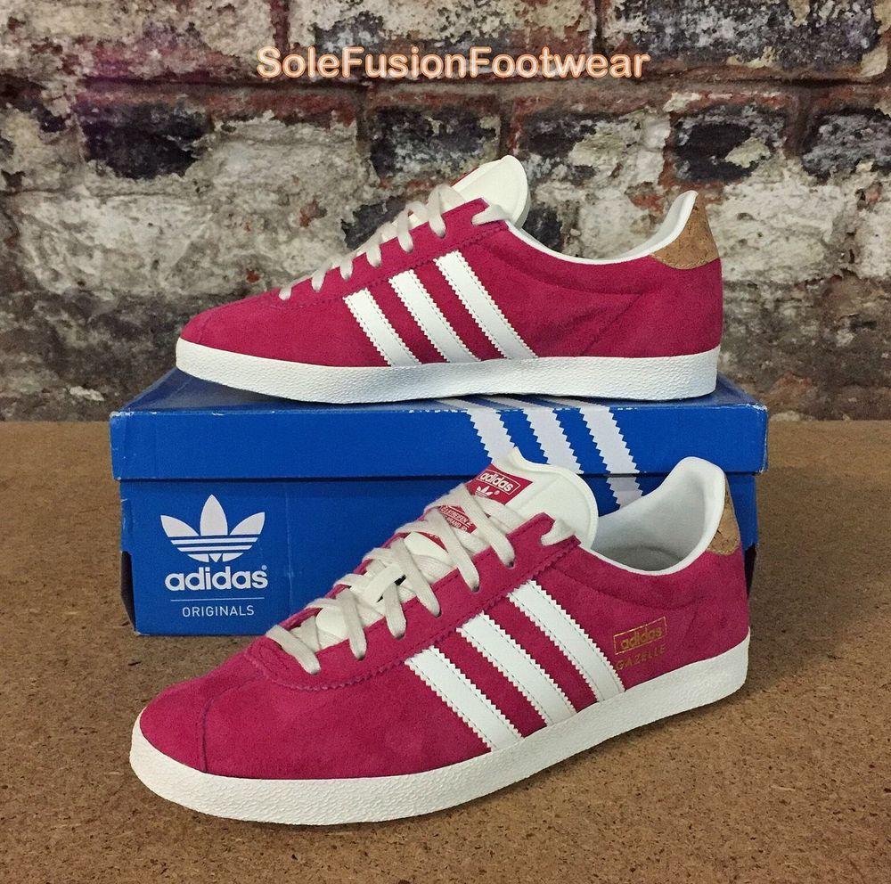 big sale 5b54c 27f44 adidas Originals Womens Gazelle OG Trainers Pink sz UK 5 NEW Sneakers US  6.5 38   eBay