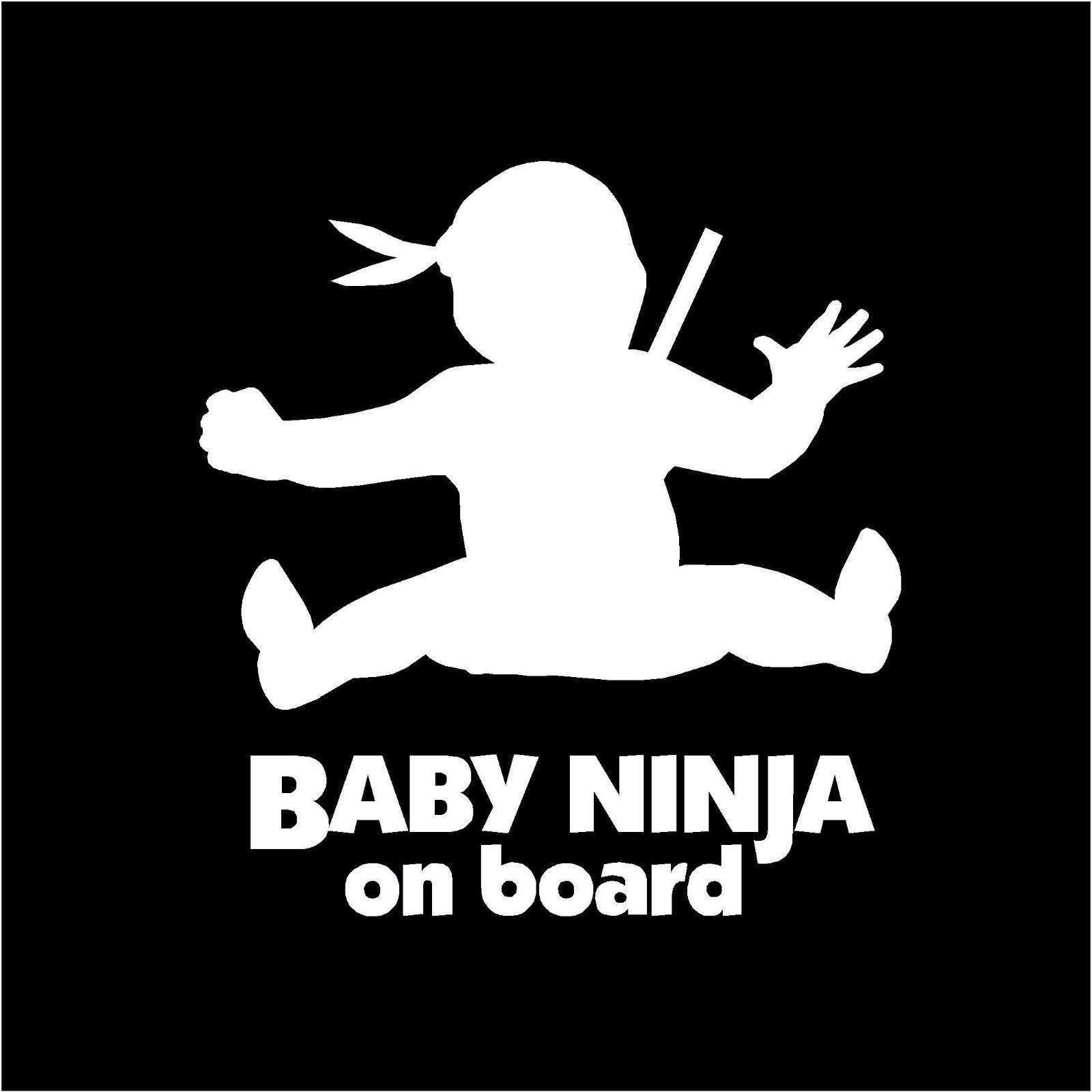 Baby On Board Baby Ninja Vinyl Car Window Decal Sticker Kung Fu Karate Car Window Decals Decals Stickers Kung Fu [ 1600 x 1600 Pixel ]