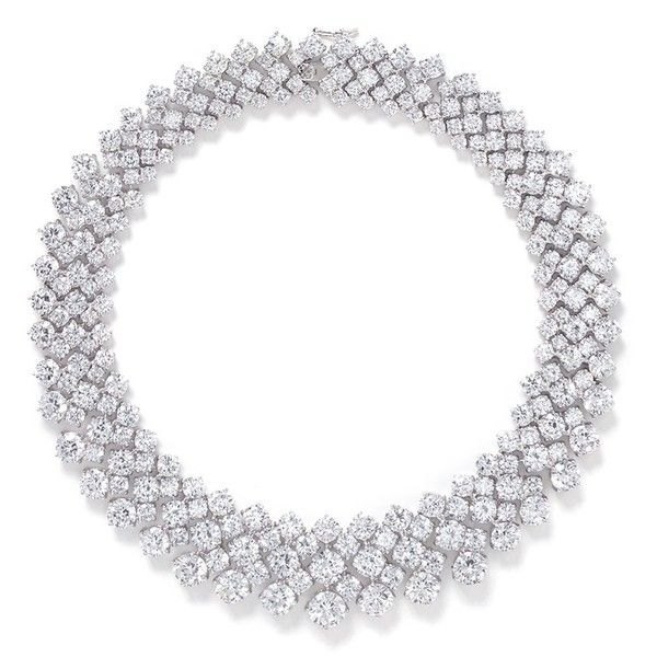 Cz by Kenneth Jay Lane Multi cut cubic zirconia collar necklace (8.325 DKK) ❤ liked on Polyvore featuring jewelry, necklaces, colares, metallic, cubic zirconia necklace, cz jewelry, cz by kenneth jay lane jewelry, clear crystal jewelry and cocktail jewelry