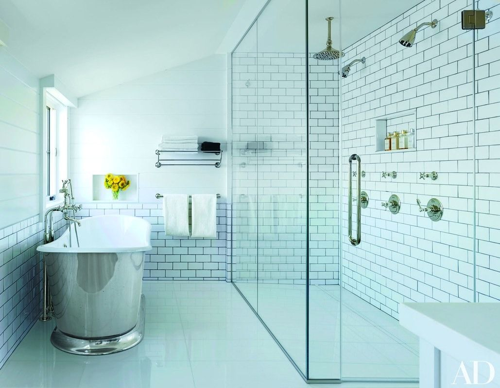 23 Ways to Decorate with Subway Tile | Waterworks, Subway tiles and Tubs