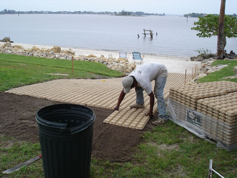 Driveway Grass Installation Boat Ramp Drivable Grass