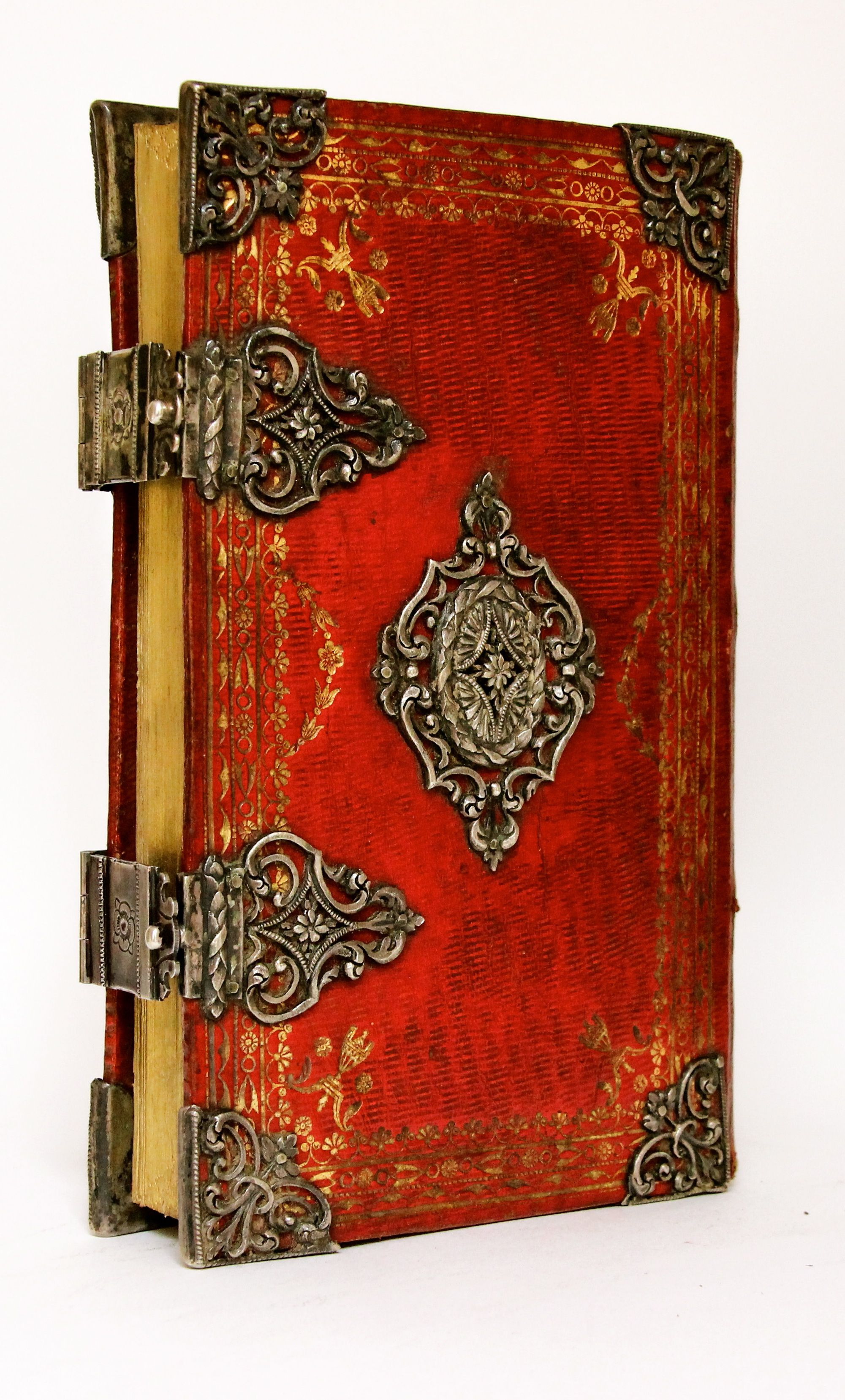 Beautiful Leather Binding Vintage Hand Made Blank Book Manuscript Writing