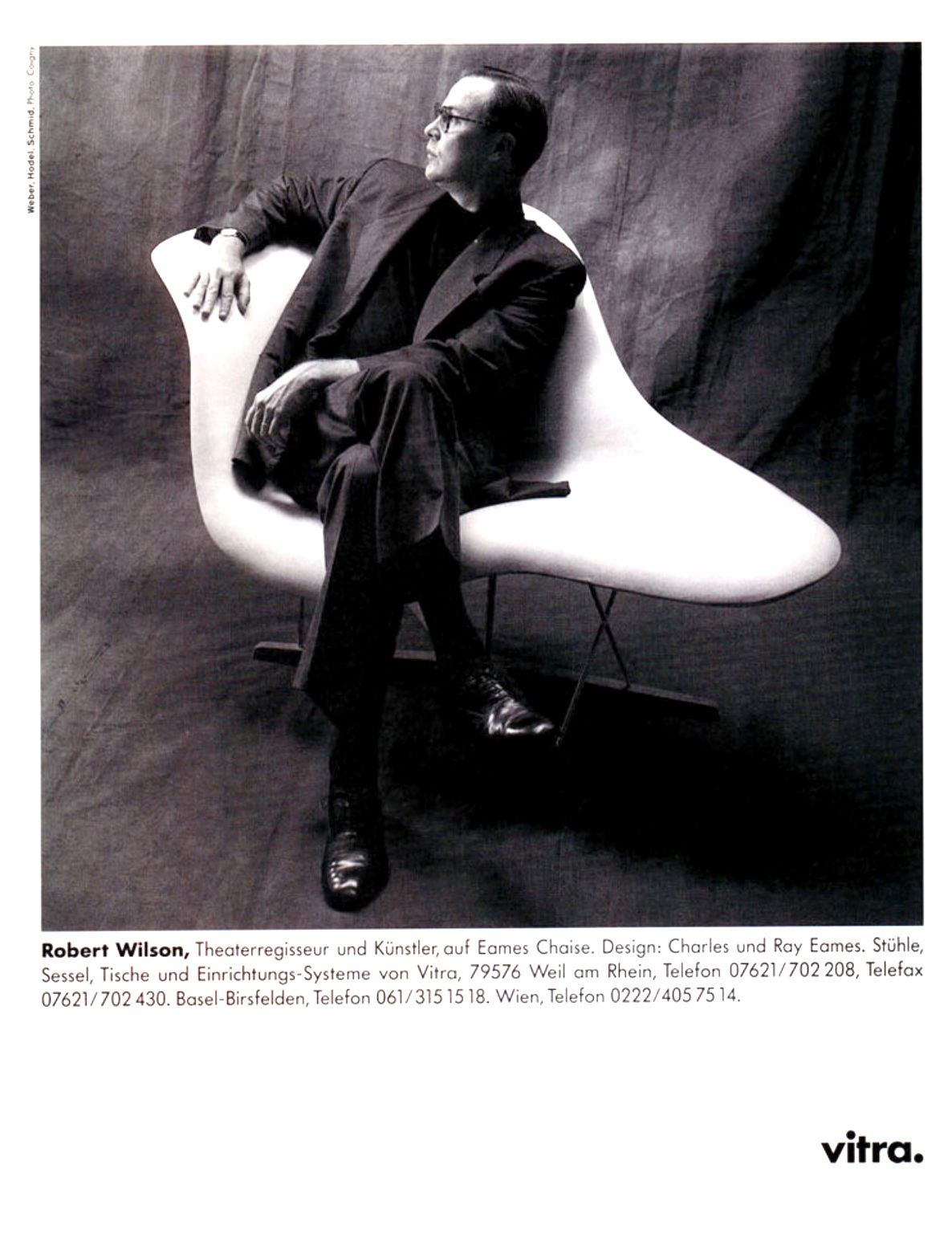 Renowned Artist Robert Wilson Robertwilson Sitting On A Vitra Eames La Chaise In This Vintage 1995 Vitra Vitra Eames Chaise Comfortable Living Room Chairs