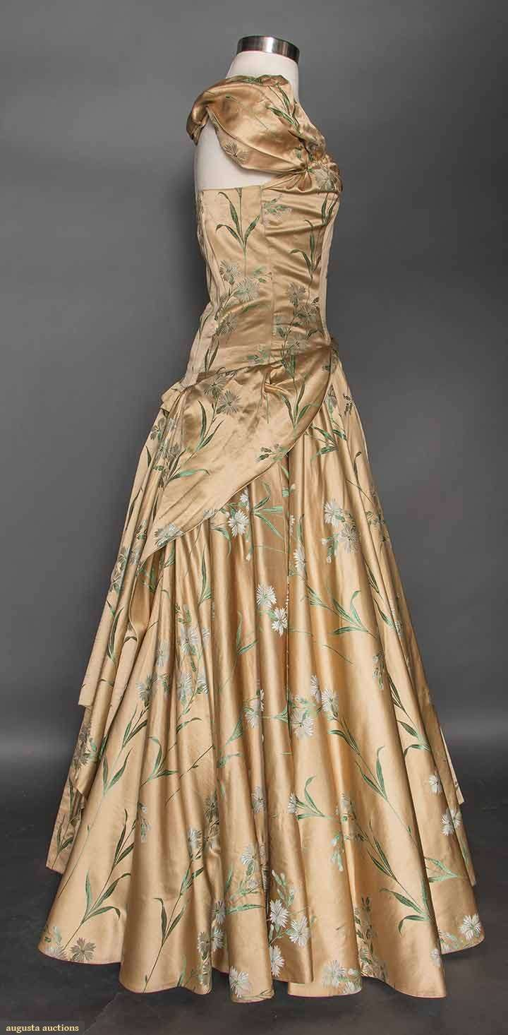 Gold brocade evening gown s vintage clothing pinterest