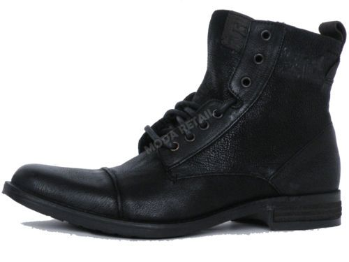 LEVIS-Mens-Leather-Black-Boots-Country-Shoes-Footwear-TURLOCK-REFRESH