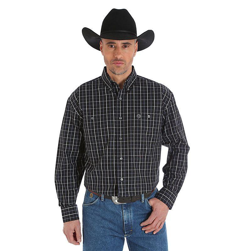 Wrangler Apparel Mens George Straight Long Sleeve
