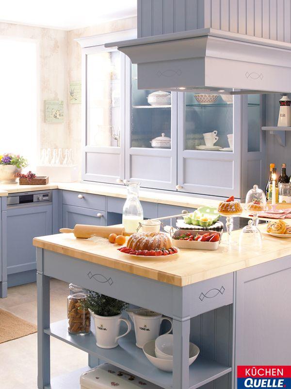 Die Einbauküche die einbauküche systema 6035 achatblau ist landhausromantik pur
