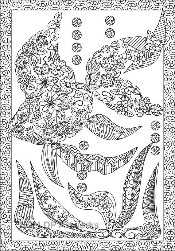Fish Shaped Coloring Page Fishshaped Doodle