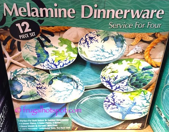 Costco Sale Sea Life Melamine 12-Pc Dinnerware Set $18.99 & Sea Life Melamine 12-Pc Dinnerware Set. #Costco #FrugalHotspot ...