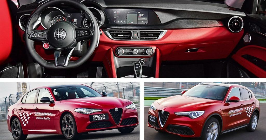 Revised 2020 Alfa Giulia And Stelvio Debut In China With Improved Interiors New Photos Carscoops Alfa Giulia Alfa Romeo Stelvio Alfa Romeo