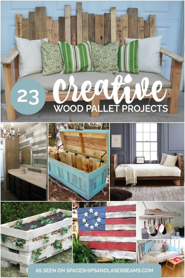 How to's : 21 Creative Wood Pallet Projects